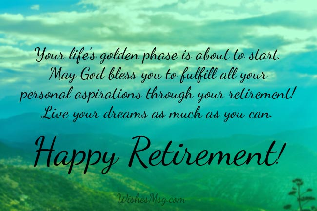 Best wishes for retirement