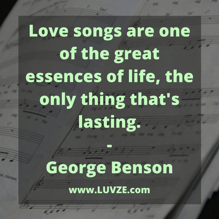 quotes of love songs