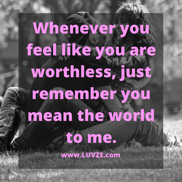 you mean the world for me quote