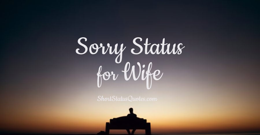 Sorry Status For Wife – Romantic Sorry Message and Captions For Wife