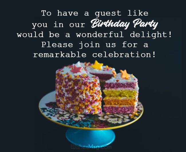 Birthday Invitation Message and Wording Ideas 1