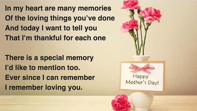 Mother's Day 2017 Poems