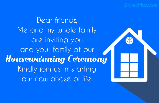 Invitations to housewarming for social media