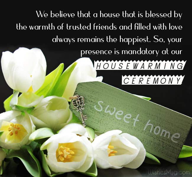 Housewarming Invitation Messages and Wording Ideas - Housewarming Invitation Messages and Wording Ideas