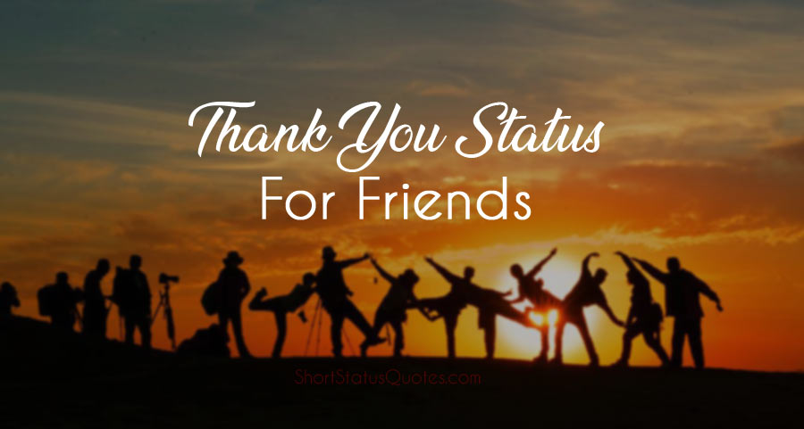 [Best] Thank You Status for Friends – Thank You Messages for Friends