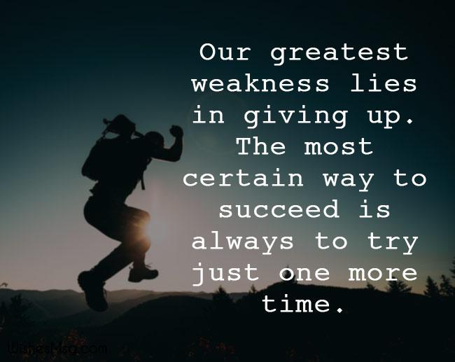 Motivational messages about success