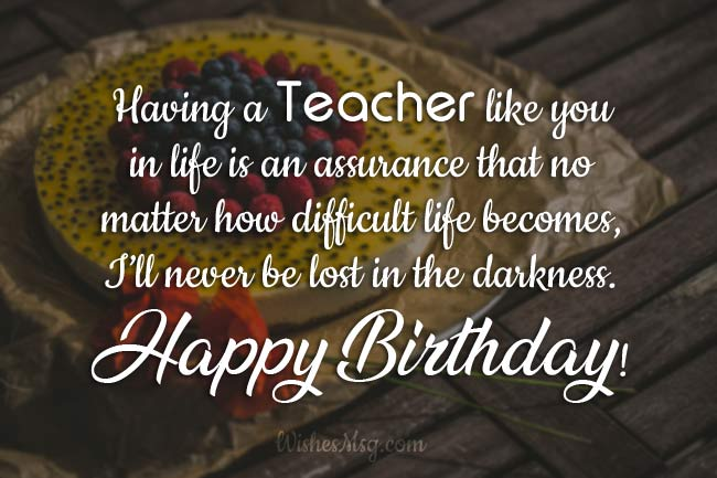 Anniversary messages for a teacher