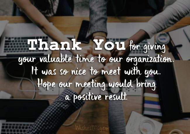 Business Thank you Notes After a meeting