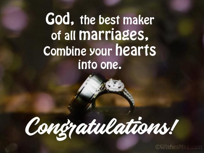 Christian wedding congratulation quotes