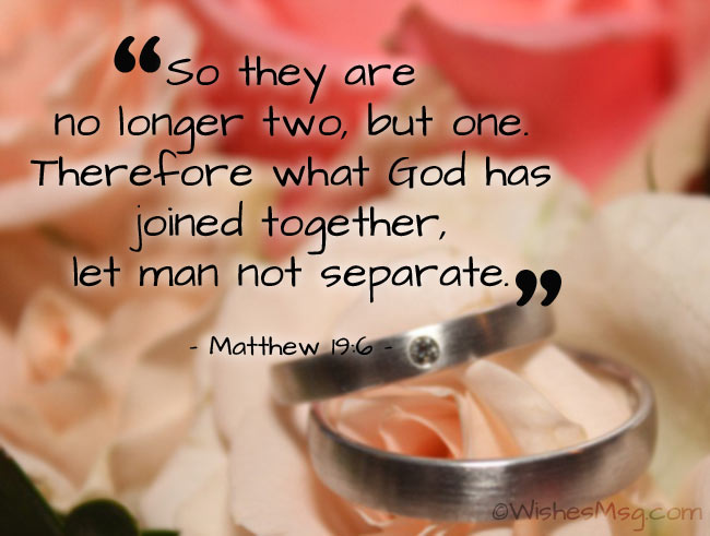Biblical wedding vows