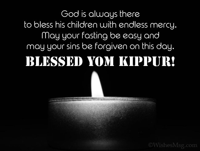 Blessed greetings from Yom Kippur
