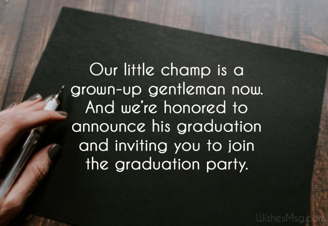 Graduation Announcements Parent Labels