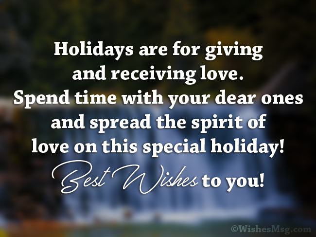 Happy Holidays messages for a friend