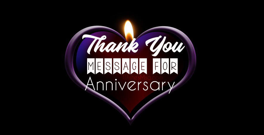 Anniversary Thank You Message For Husband and Wife