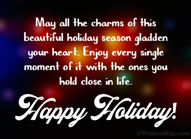 Best wishes for the holidays