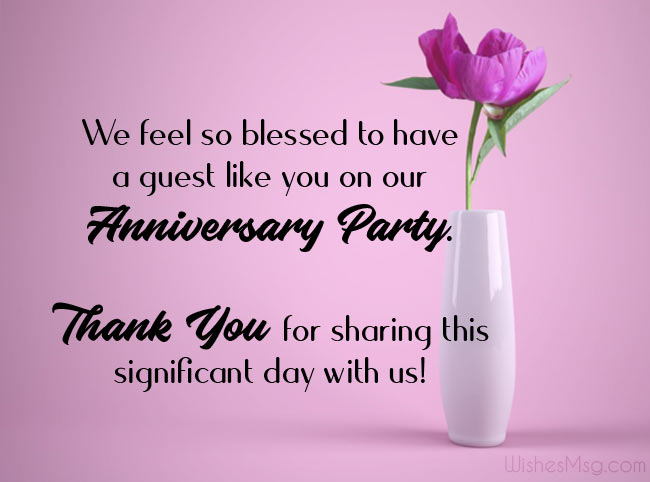 Thank you message for the birthday party guest