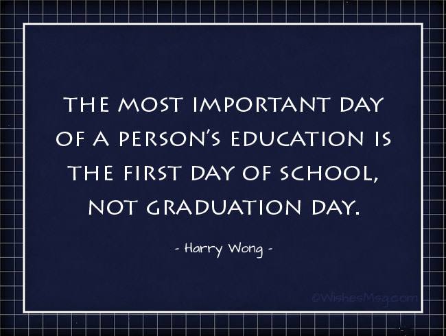 Quotes about the first day of school