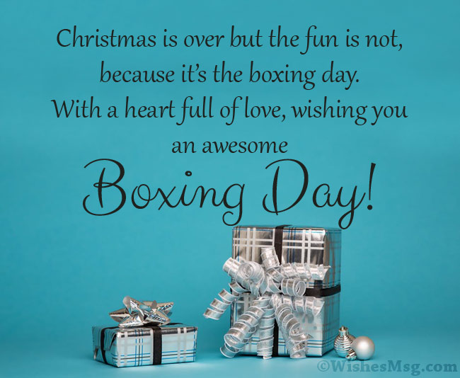 Boxing Day Card Messages