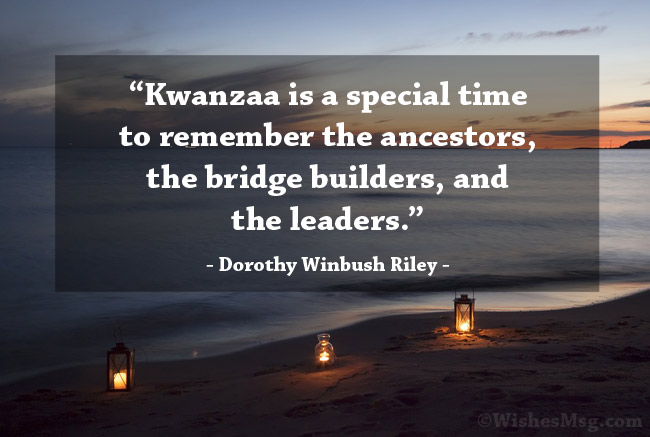 Quotes about Kwanzaa
