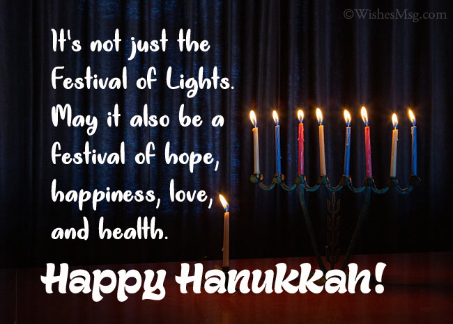 Best wishes for Hanukkah
