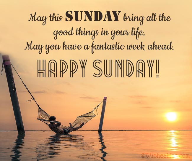 Happy Sunday Greetings Messages