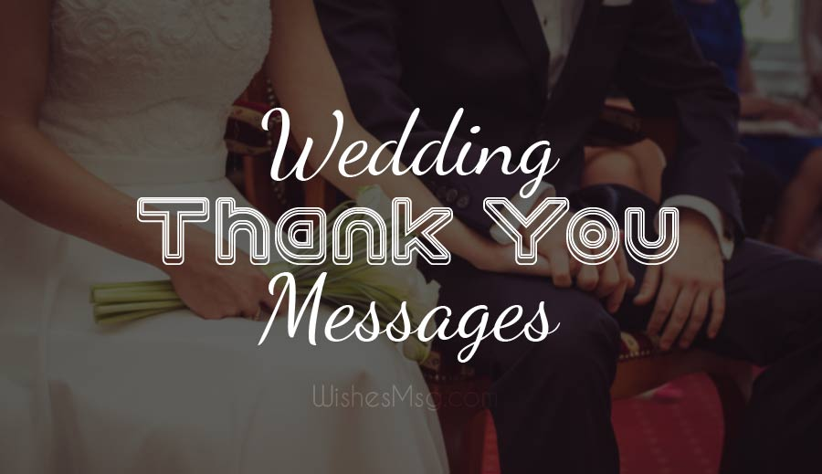 Wedding Thank You Messages for Host