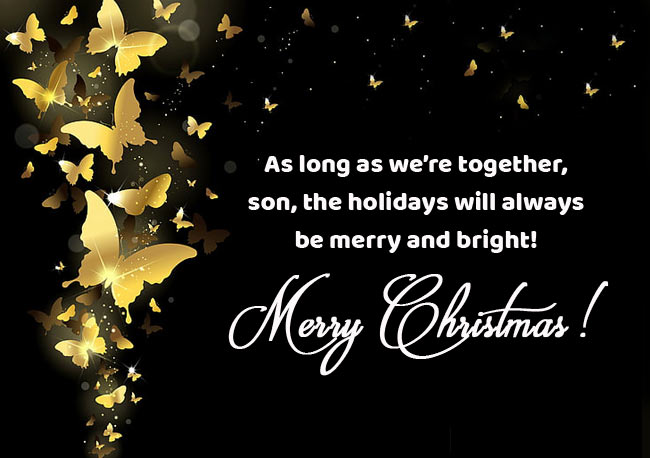 Christmas Greeting Card Messages for Son