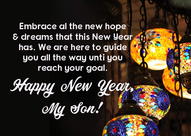 Happy New Year Messages for Son