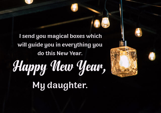 Happy New Year Greetings for Daughter