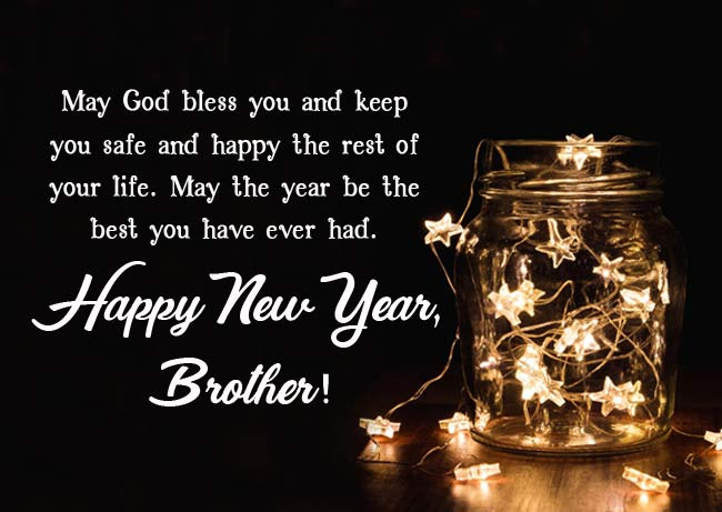 Happy New Year Status for Brother
