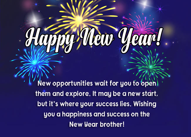 Happy New Year Greetings for Brother