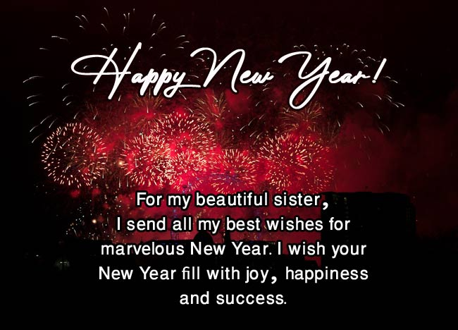 Happy New Year Status for Sister