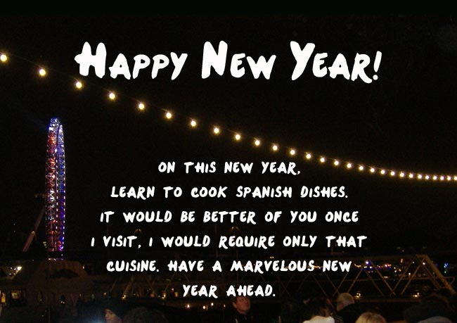 Happy New Year Greetings for Sister