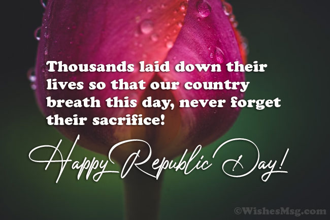 Inspirational messages for Republic Day