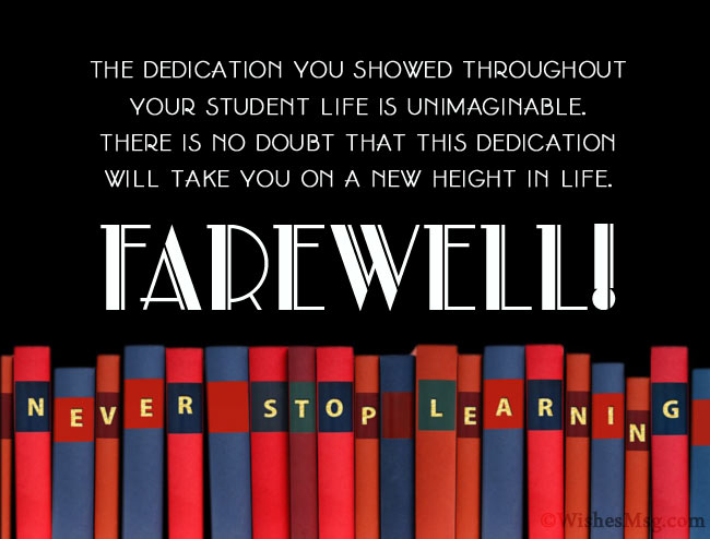 Best Farewell Messages for Students
