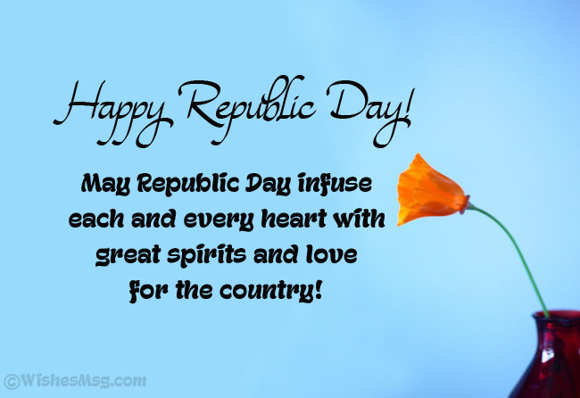 Best wishes for Republic Day