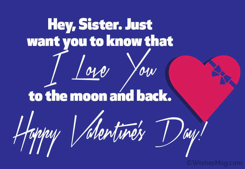 Valentine's message for sister