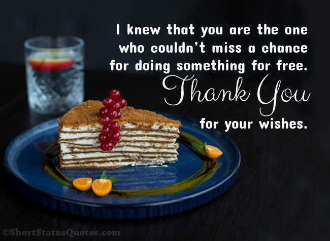 Funny Thank You Wording for Birthday Freetings