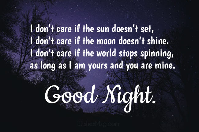 Good romantic night wishes for woman