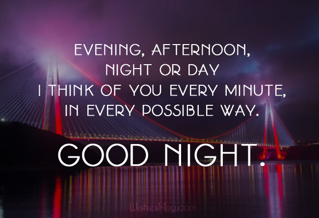 Cute good night wishes for woman