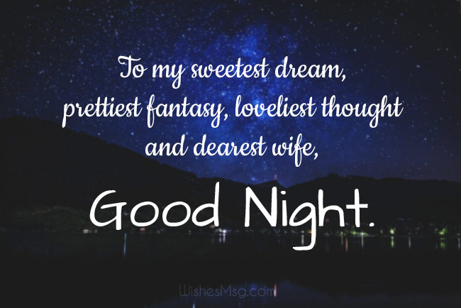 Good night wishes for women