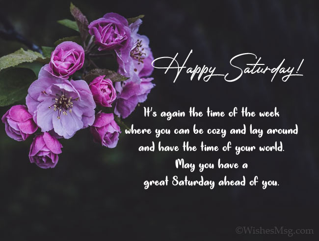 Happy Saturday greeting messages