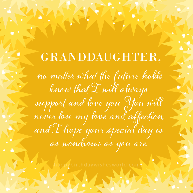 Happy birthday granddaughter stars