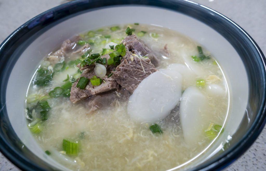 Duk gook Korean rice cake soup